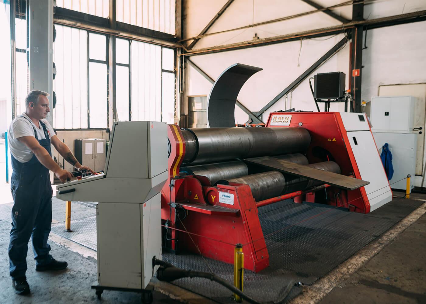 Ovijanje pločevine metalna