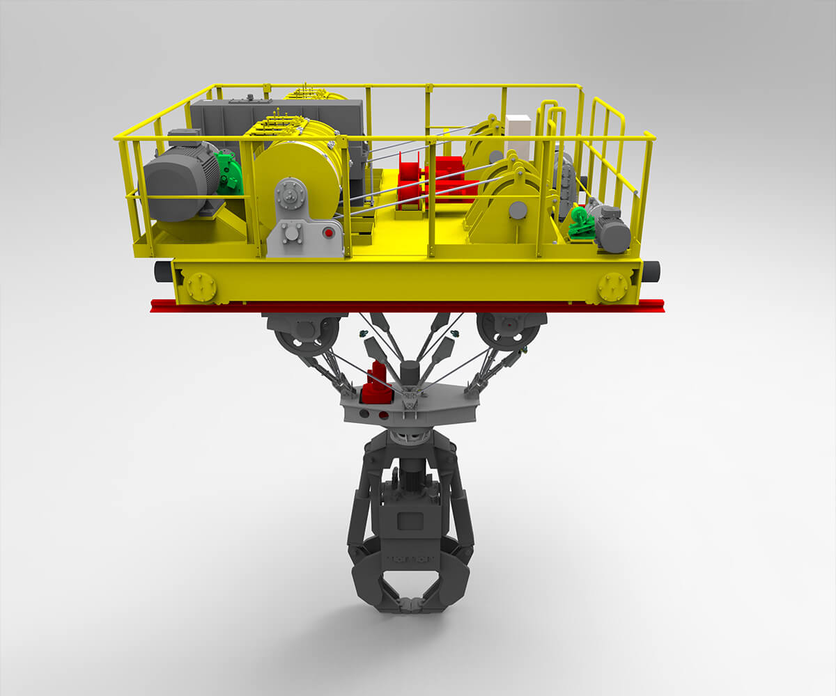 Procesna dvigala za jeklarsko industrijo metalna